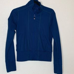 LULULEMON || athletic blue zip up jacket